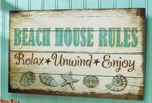 Beachy Blues / Creating a beach atmosphere at home / by Randi Spurling