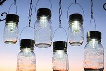 Jars / Repurposed fruit jars, Mason jars, canning jars, art, more uses. / by Patsy Bell Hobson
