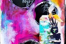 Art journal - mixed media  / Inspirasjon - laget av andre