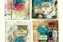 ATC / Art trading card. Byttekort. Kanskje laga eg et kort til deg, hvis du laga et til meg.