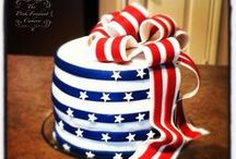 Red, White & Blue / Cakes all supporting the Red, White and Blue.  / by Satin Ice