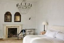Old World Interior Design Ideas / Antique and historically influenced rooms, decor and objects to inspire like: fireplaces, black doors, portraits, black walls, wood floors, moldings, dark walls, estate, leather chairs, world of interiors, antique furniture.