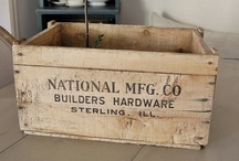 Vintage Wood Boxes / by Donna Mc.