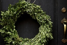 Winter Holiday / Winter holiday decor inspiration. Featuring wintergreen trees, gift wrapping, wreathes, tablescapes and eatables.