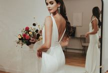 / Our Dress Collection / / Here are images of dress samples we have in the boutique right now! (PS if you are booking an appointment to try a specific dress, please double check that we still have it in stock as stock changes regularly!)  We are proud stockists of #SarahSeven #SavannahMiller #StewartParvin, #Enzoani #SassiHolford