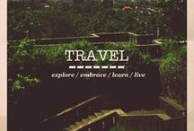 """Travel Spaces and Places / """"I travel not to go anywhere, but to go. I travel for travel's sake. The great affair is to move.""""  ― Robert Louis Stevenson"""