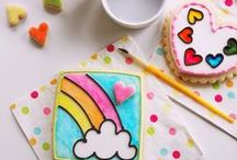 ELLA'S RAINBOW UNICORN PARTY / Collection of ideas for hosting a Rainbow Unicorn Party.