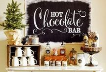 HOT COCOA BAR / Inspiration for creating an interactive Hot Cocoa/Hot Chocolate Bar for weddings, parties, holidays, celebrations and more.