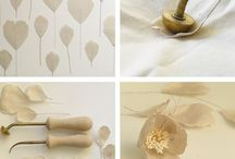 Fabric flowers /  Fabric flower making tutorials and inspiration