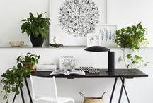 Workspace / Creative ideas and home office inspiration for the entire family. Home office ideas / Home decor ideas  Idées et inspiration pour créer un bureau qui vous ressemble. Decoration, organisation, rien n'est laissé au hasard!