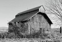 Barn Photos / Shots of barns (always a favorite) - many in black and white - from a bygone era of Midwestern farm life. / by Steve Hoffacker - New Home Sales Training
