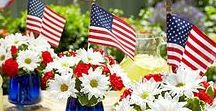 """4th of JULY PARTY Ideas / We RENT Tables, Linens, Staging, Lighting, Tents & so much more! """"We Rent Celebrations!"""" www.BroadwayPartyRental.com"""