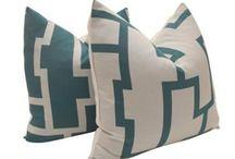 PILLOWS ~ Interior Design / Pillows Toss cushions, pink, white, gray, blue, cotton, fluffy, turquoise, #InteriorDesign. Interior Design by Jil Sonia McDonald of Jil Sonia Interiors, Chilliwack, BC V4Z 1K7 https://www.jilsoniainteriors.com/
