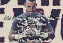 CM Punk / Because I'm a teeny tiny little bit obsessed. / by Samantha Smailes