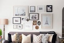 Photo Gallery Wall Inspo / Home improvement is hard work.  Need all the tips to get our photo wall project going.