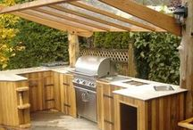 Summer/Outdoor Kitchens / From a simple barbecue grill to an elaborate bar, full kitchen, or dining area, the outdoor or summer kitchen has become a very popular addition to backyards everywhere