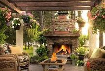 Outdoor Fire Features / Indoor fireplaces have been a mainstay of homes for centuries, and now the outdoor fireplace, fire-pit, or other fire feature has become a popular addition to the backyard, deck, or porch