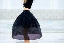 Maxi and Midi skirts and dresses / by BLANQI