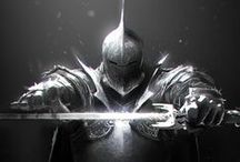Weapon & Armor concept / Collection of weapons and armor