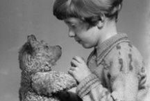 Sweet Old Bears / I think you've gathered by now that I like teddy bears. As a young girl, I had a 1930s oldie bear as a close companion. I started collecting antique teddy bears when I was a teenager, then I moved on to collecting artist-made bears, and finally, I started designing and making my own bears (New Avenue Crew) back in 1996. But these oldies are the best--oh, the stories they would tell if they could only speak!