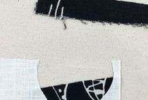 Abstract Textile Drawings / Small abstract textile drawings by artist Karen Anne Glick www.karenanneglick.com