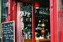 • Cafés and Tea Cups • / Coffee, Cafés, Tea, Tea Cups... what else do you need? / by Faith Ramirez