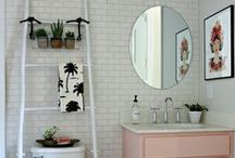 NEST Bathroom / Bathroom inspiration for a practical but pretty bathroom. Our bathroom needs a complete overhaul and renovation, including moving the boiler out of there.  It's going to be sometime next year that we start the bathroom makeover, meanwhile I plot and plan my ideal bathroom here.