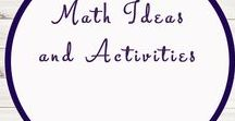 Math Ideas and Activities / Study Ideas | Activities | Homeschooling | Educational | Math  | Printables | Learning | Unit Studies | Crafts | Maths | Numbers