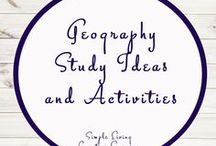 Geography Activities and Ideas / Study Ideas | Activities | Homeschooling | Educational | Social Studies  | Printables | Learning | Unit Studies | Crafts | History | Geography | SOSE