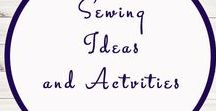 Sewing Ideas and Help / Ideas | Activities | Homeschooling | Educational | Sewing  | Printables | Learning | Sewing Help | Crafts | Stitching