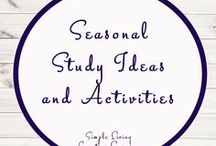 Seasonal Activities and Ideas / Study Ideas | Activities | Homeschooling | Educational | Seasons  | Printables | Learning | Unit Studies | Crafts | Spring | Autumn | Winter | Summer