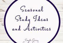 Seasonal Activities and Ideas / Study Ideas   Activities   Homeschooling   Educational   Seasons    Printables   Learning   Unit Studies   Crafts   Spring   Autumn   Winter   Summer
