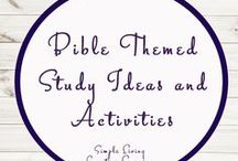 Bible Themed Activities / Study Ideas   Activities   Homeschooling   Educational   Bible    Printables   Learning   Unit Studies   Crafts   Religious   Christian