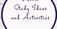 Music Ideas and Activities / Study Ideas | Activities | Homeschooling | Educational | Music  | Printables | Learning | Unit Studies | Crafts | Instruments | Composers