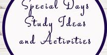 Special Day Themed Activities and Ideas / Study Ideas | Activities | Homeschooling | Educational | Special Days  | Printables | Learning | Unit Studies | Crafts | Anzac Day | Thanksgiving | Holidays |