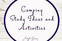 Camping Study Ideas and Activities / Study Ideas | Activities | Homeschooling | Educational | Camping  | Printables | Learning | Unit Studies | Crafts | Outdoors