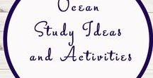Ocean Activities and Ideas / Study Ideas | Activities | Homeschooling | Educational | Under the Sea  | Printables | Learning | Unit Studies | Crafts | Ocean | Sea Animals | Sea Creatures | Boats | Ships | Sailing