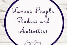 Famous People Study Ideas and Activities / Study Ideas | Activities | Homeschooling | Educational | Inventors  | Printables | Learning | Unit Studies | Crafts | Famous | Science | People