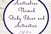 Australian Themed Study Ideas and Activities / Study Ideas | Activities | Homeschooling | Educational | Australia  | Printables | Learning | Unit Studies | Crafts