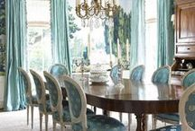 Dining Rooms / The room in which our friends are most likely to join us for repasts glorious, life's celebrations or simple  friendship meals.  Choose carefully. / by Margo Carroll