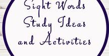 Sight Word Activities and Ideas / Study Ideas | Activities | Homeschooling | Educational | Sight Words  | Printables | Learning | Unit Studies | Crafts | Literacy | Language Arts