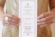 A Very Fitzgerald Wedding / Wedding inspiration that would make Jay Gatsby swoon!