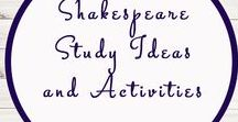 Shakespeare Related Activities and Ideas / Study Ideas | Activities | Homeschooling | Educational | Shakespeare  | Printables | Learning | Unit Studies | Crafts | Literacy | Poetry | Language Arts | Plays