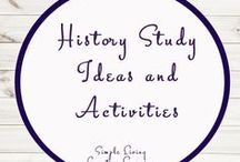 History Study Ideas and Activities / Study Ideas | Activities | Homeschooling | Educational | History  | Printables | Learning | Unit Studies | Crafts