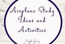 Airplane Study Ideas and Activities / Study Ideas | Activities | Homeschooling | Educational | Airplane  | Printables | Learning | Unit Studies | Crafts
