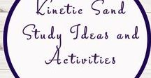 Kinetic Sand Ideas and Activities / Study Ideas | Activities | Homeschooling | Educational | Kinetic Sand  | Printables | Learning | Unit Studies | Crafts