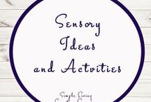 Sensory Activities and Ideas / Study Ideas | Activities | Homeschooling | Educational | Sensory  | Printables | Learning | Unit Studies | Crafts