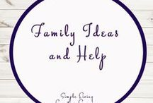 Family Ideas and Help / Ideas | Activities | Homeschooling | Educational | Family  | Printables | Learning | Help