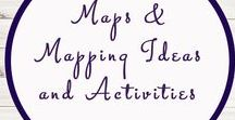 Maps and Mapping Ideas and Activities / Study Ideas | Activities | Homeschooling | Educational | Maps  | Printables | Learning | Unit Studies | Crafts | Mapping | Geography