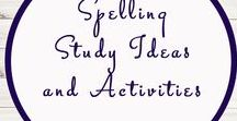 Spelling Activities and Ideas / Study Ideas | Activities | Homeschooling | Educational | Spelling  | Printables | Learning | Unit Studies | Crafts | Literacy | Language Arts